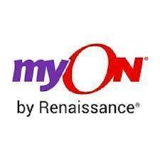 purple blue MyOn by Renaissance logo