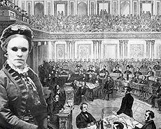 Image of Fanny Crosby before a joint session of congress