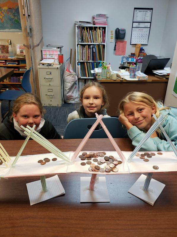 Third grade TAG students learning about the engineering design Featured Photo