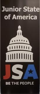 JSA OF America poster with the US capital icon