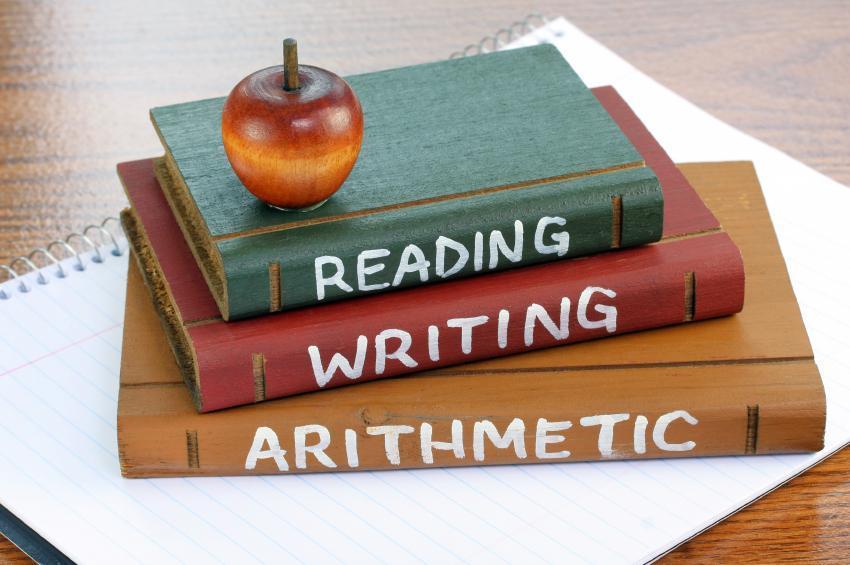 Books:  Reading, writing, mathematics