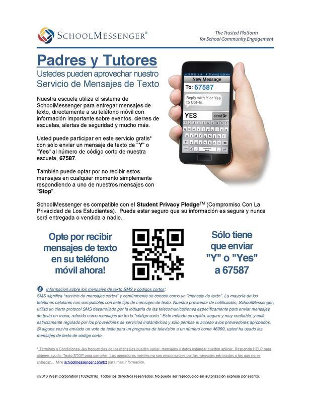 school messenger info spanish