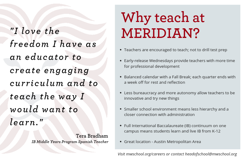 Why teach at Meridian?