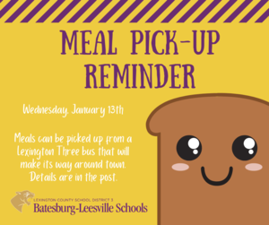 Free Meal Pick-Up Route for January 13th