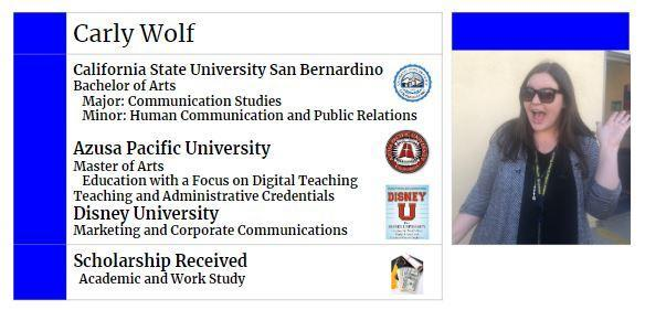 Carly's College Info
