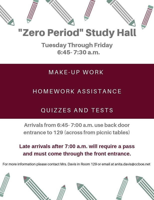 Flyer for Study Hall