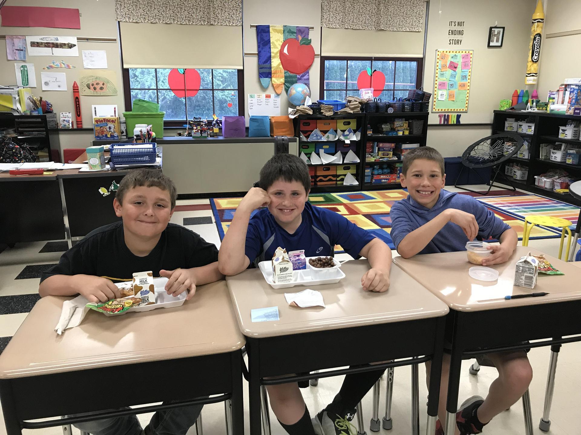 breakfast in classroom