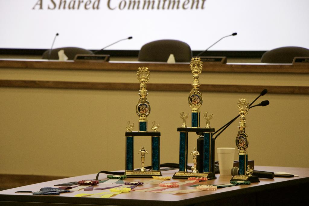 Spelling Bee Trophies and Ribbons