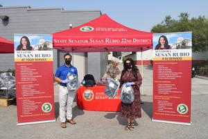 State Sen. Susan Rubio partnered with Meruelo Enterprises Inc. to provide 250 BPUSD students in K-6 with backpacks and school supplies on Sept. 16.