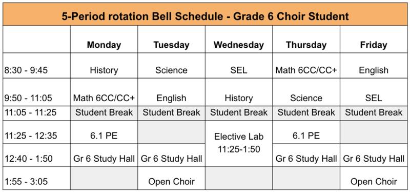 Example Student Schedule