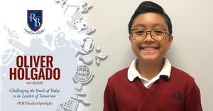 4th Grader Oliver Holgado