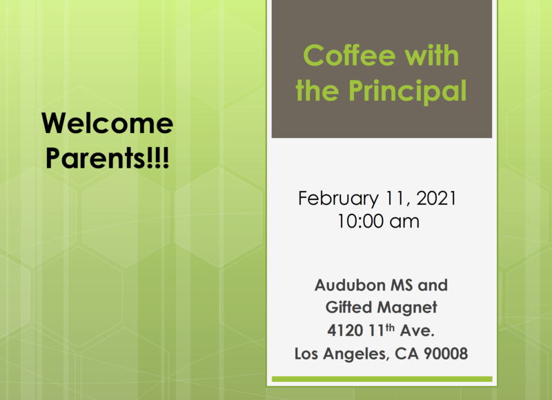 Coffee with the Principal - February 11, 2021 Featured Photo