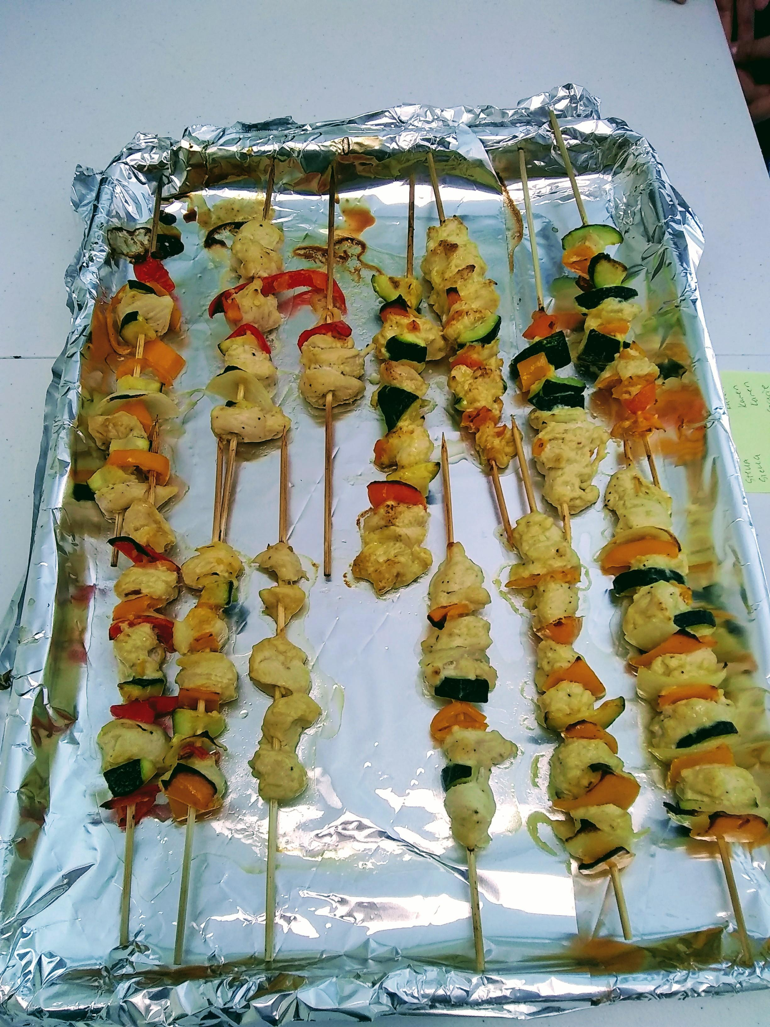 finished chicken kebabs
