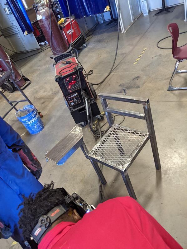 student made welding desk