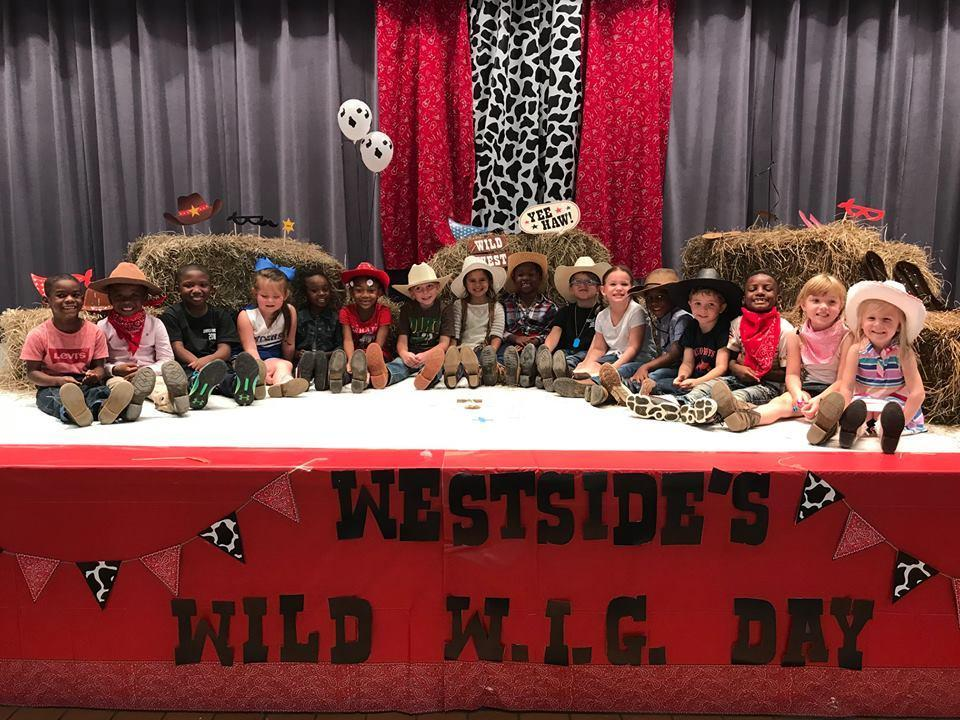 Pre-K class on stage