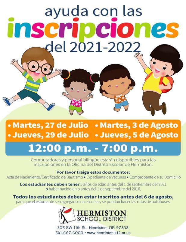 registration flyer spanish