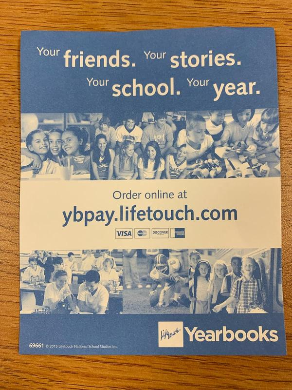 Yearbook sale is going on!