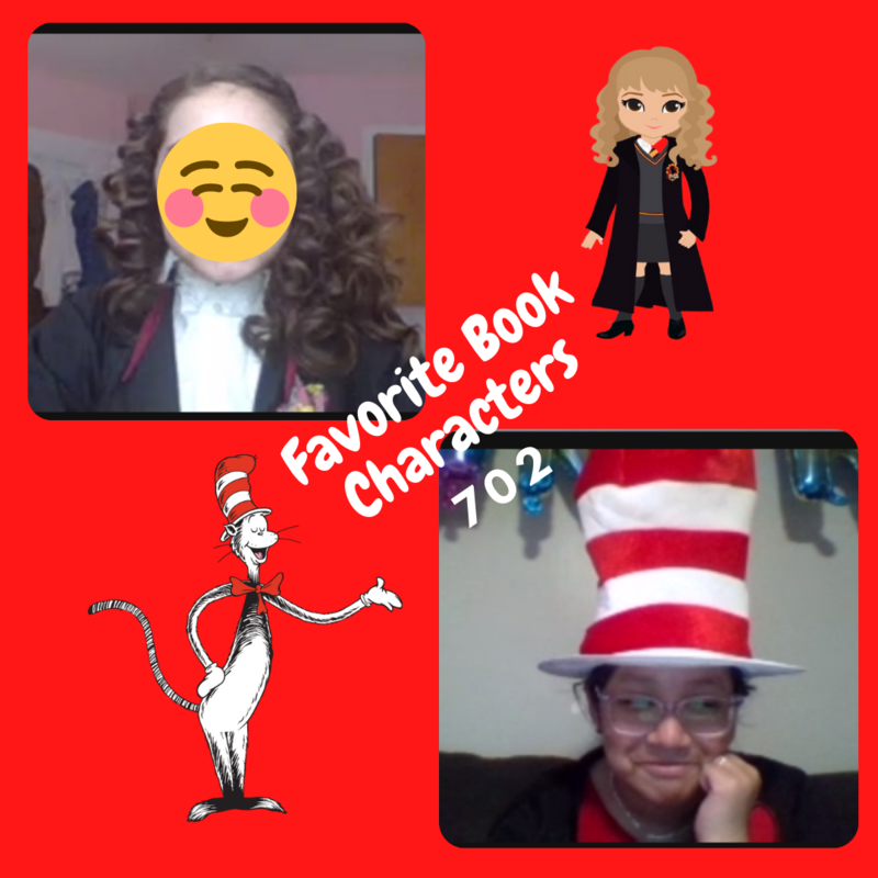 Hermoine and cat in the hat costumes