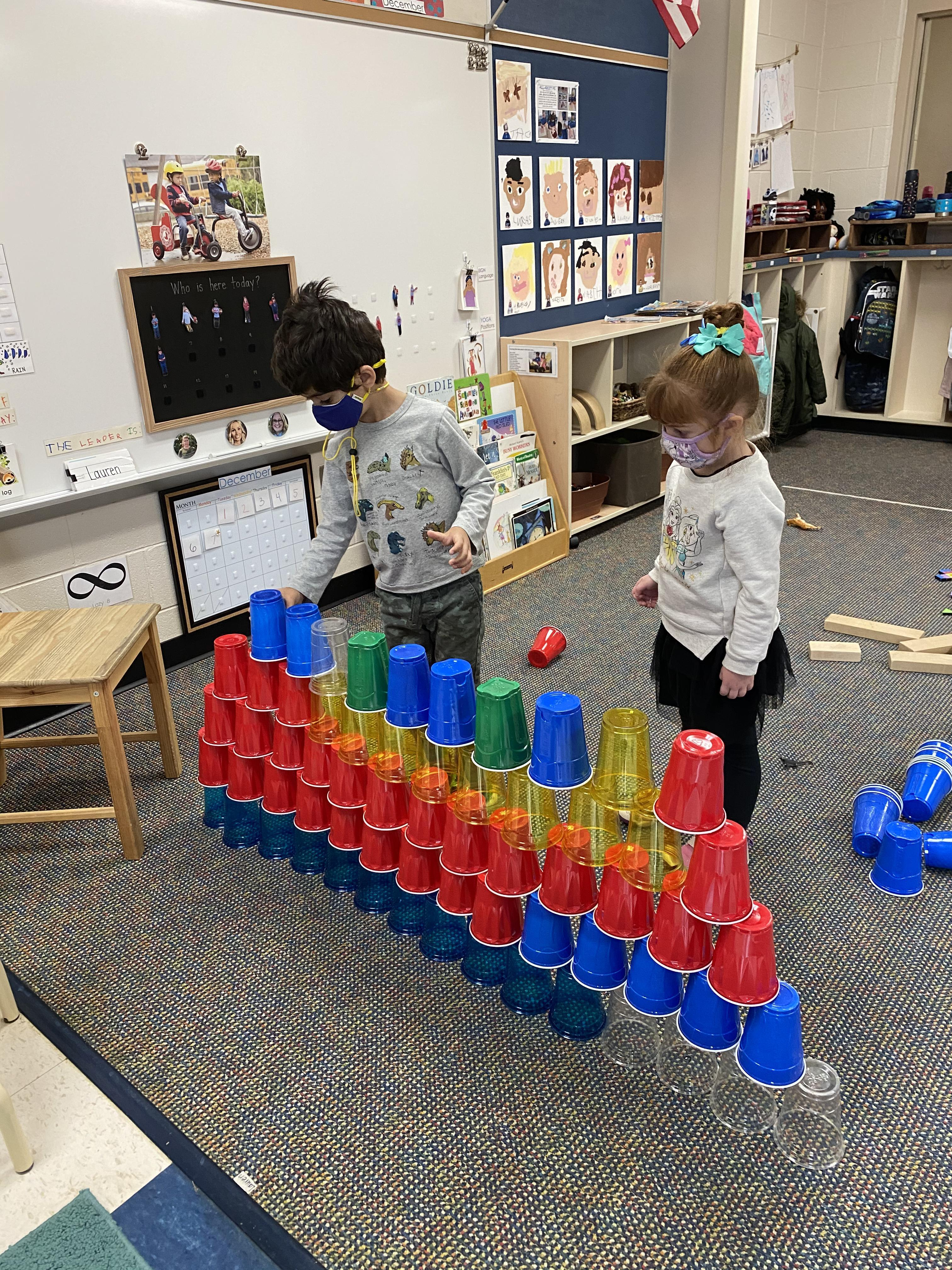 Cup tower