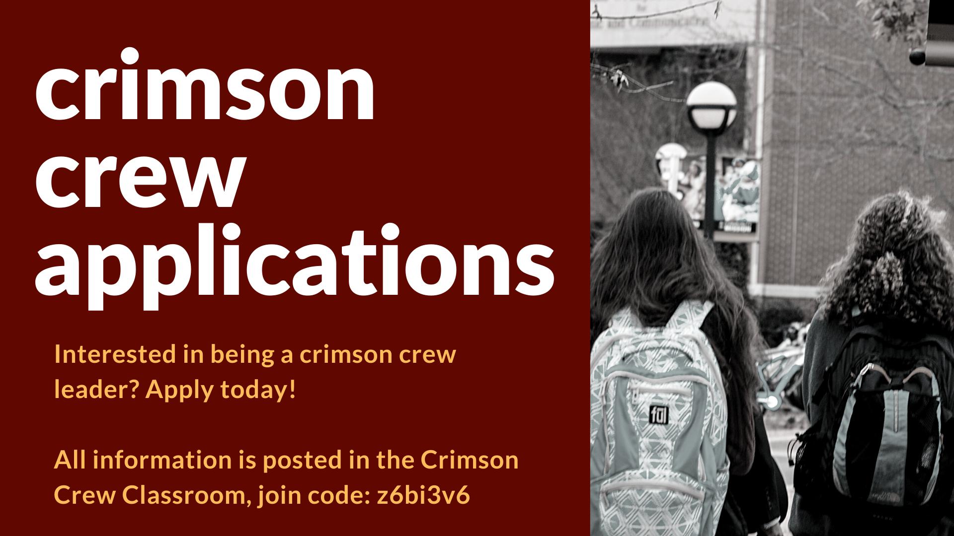 crimson crew applications