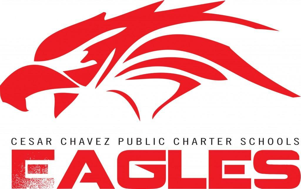 Cesar Chavez Public Charter Schools Eagles red athletics logo.