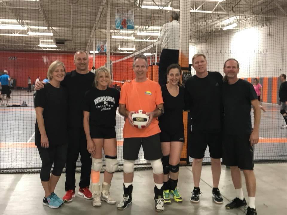 Sue's senior volleyball team