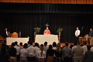 Father Brian Noel during mass