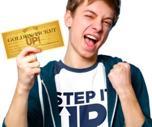 Step It Up Golden Ticket