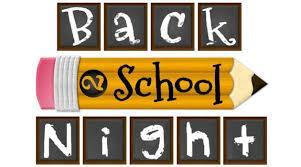 Back to School Night - Thursday August 29 @ 5:45pm Thumbnail Image