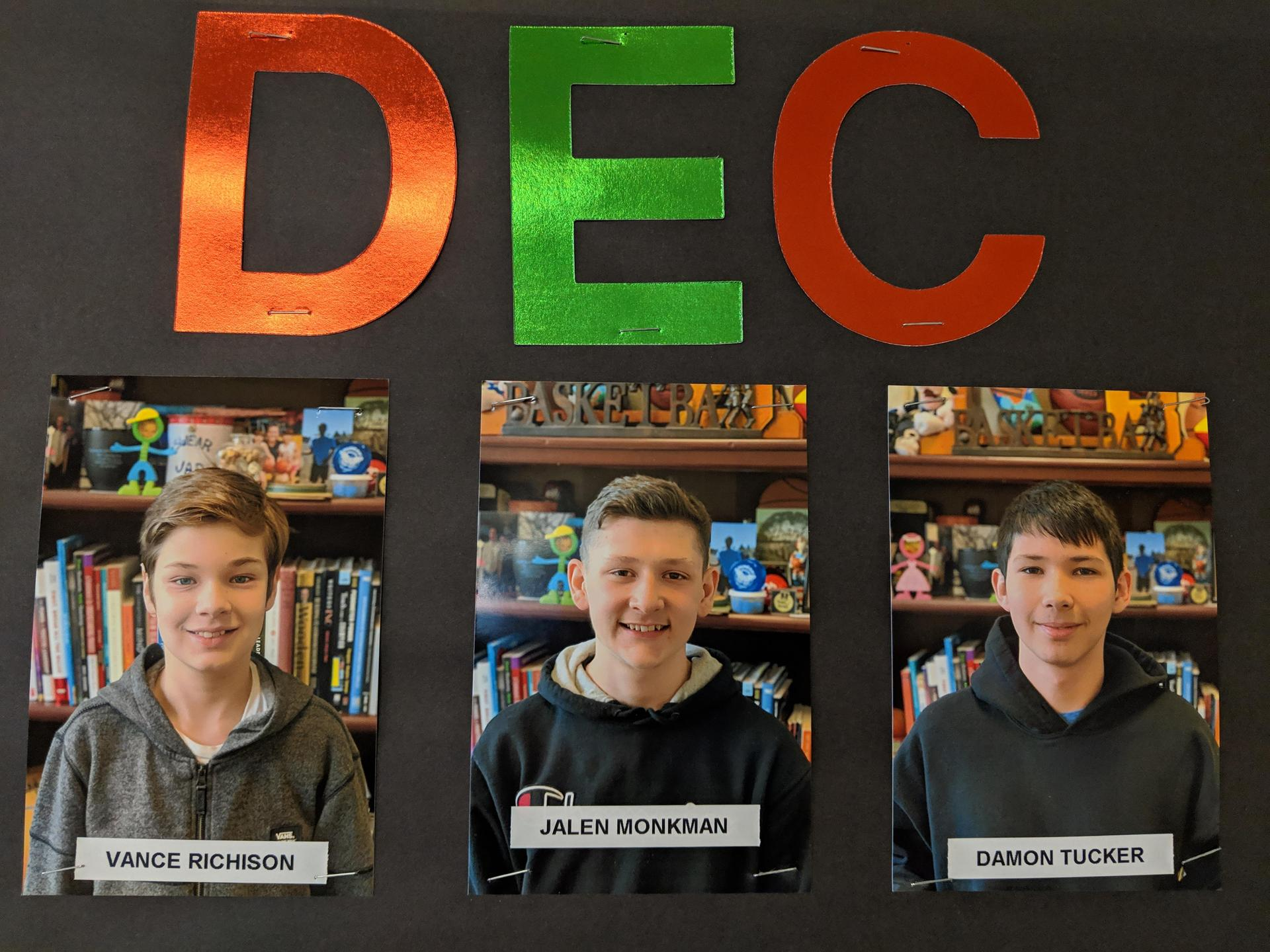 Dec students of the month