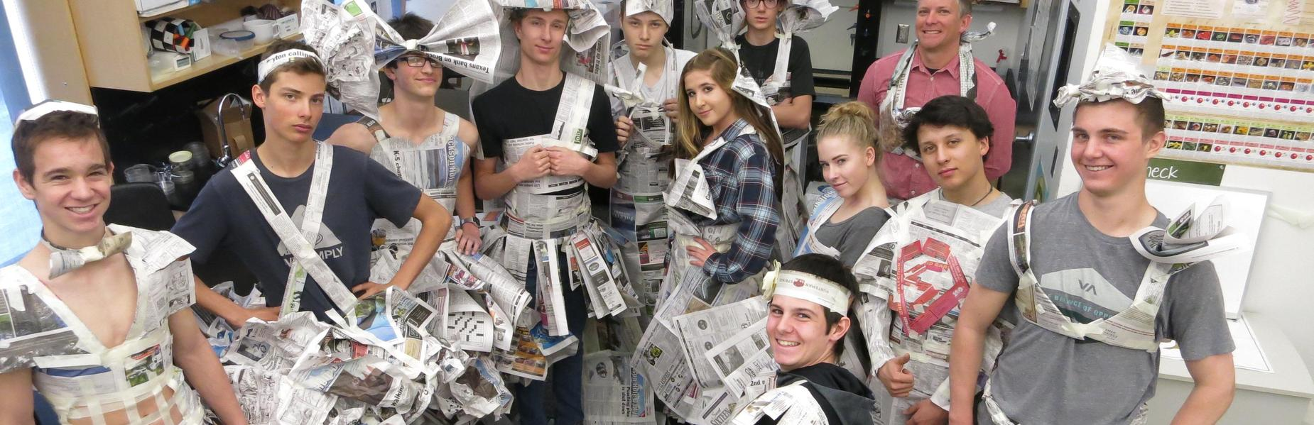 JHCS Newspaper Fashion Show
