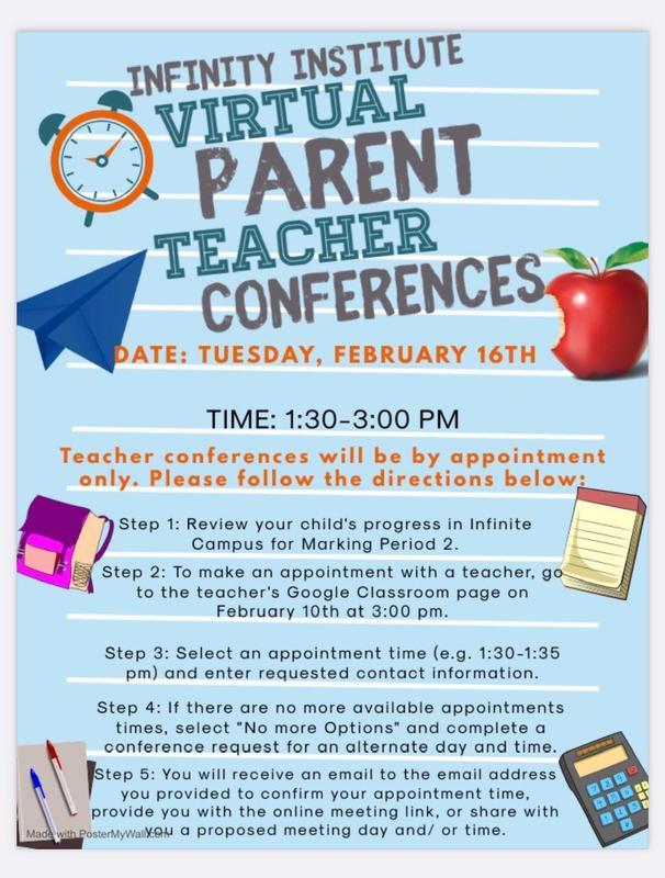 Information for Parent-Teacher virtual conferences Featured Photo