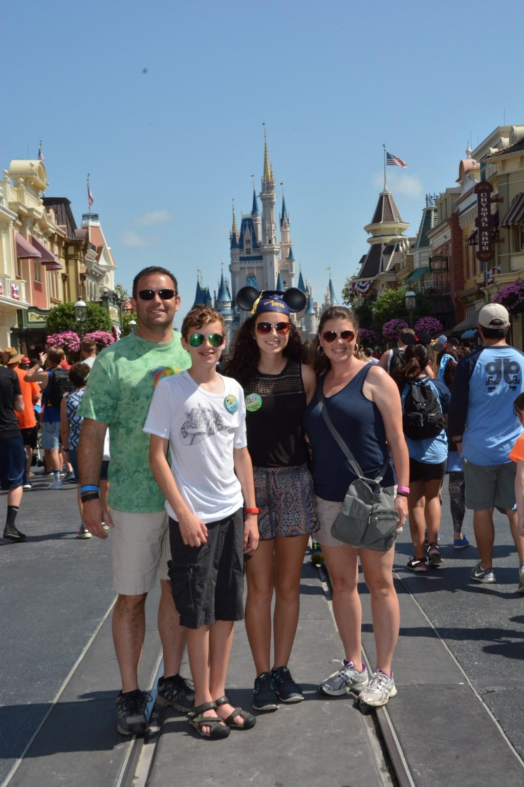 Mrs. Herrera's family at Disney World
