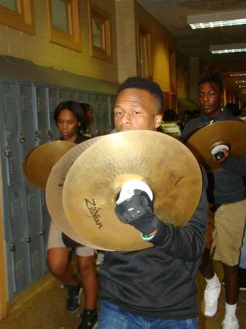 cymbals players