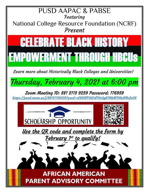 Learn more about Historically Black Colleges and Universities! Thursday, February 4, 2021 at 6:00 pm