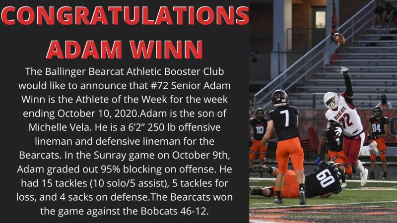 Athlete of the Week Adam Winn