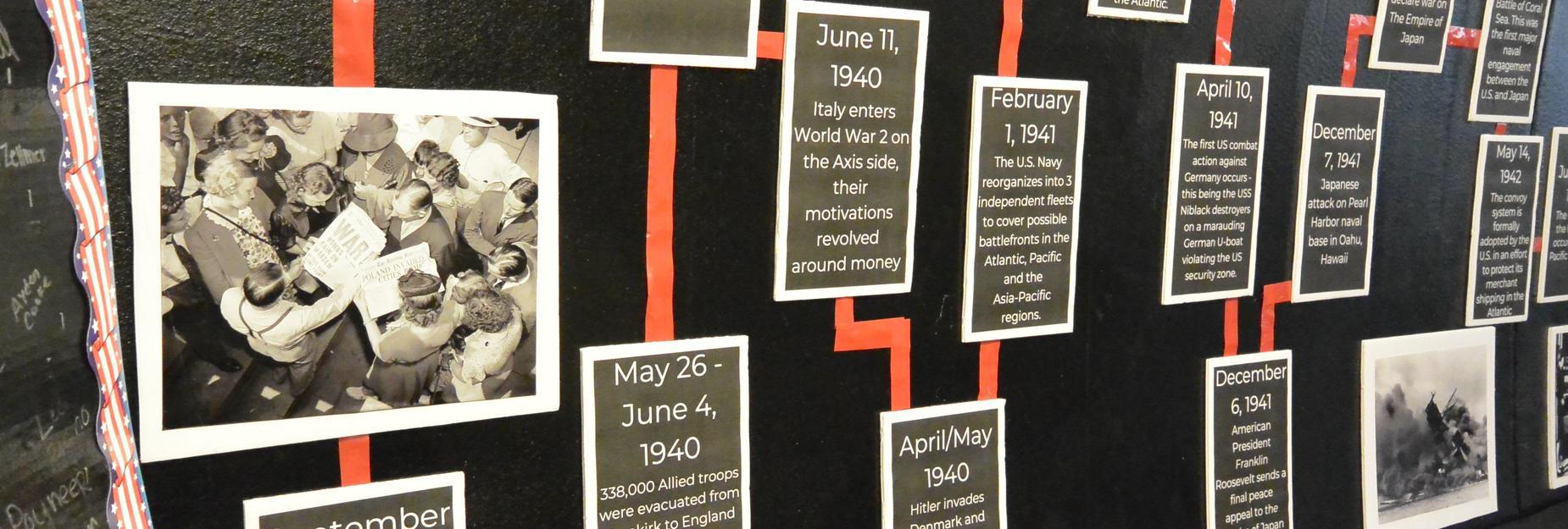 Photo of WW2 History Exhibit