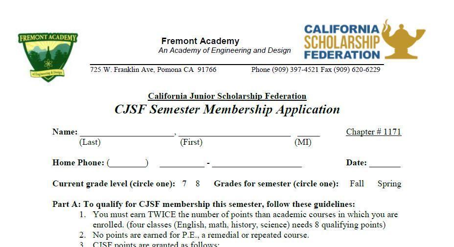 CJFS Application