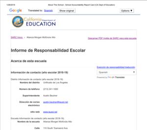 Informe de Responsabilidad Escolar