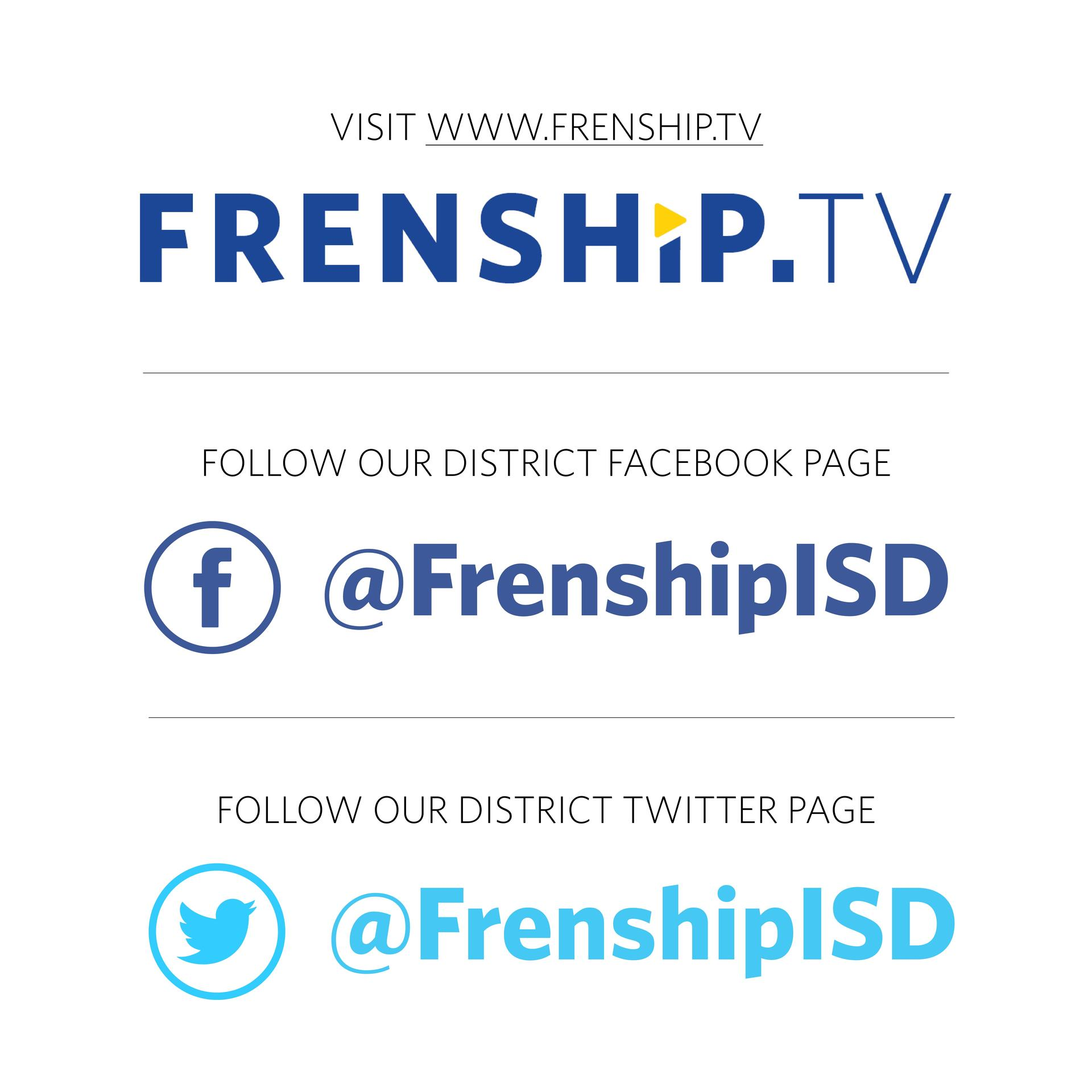 watch graduation on frenship.tv and social media