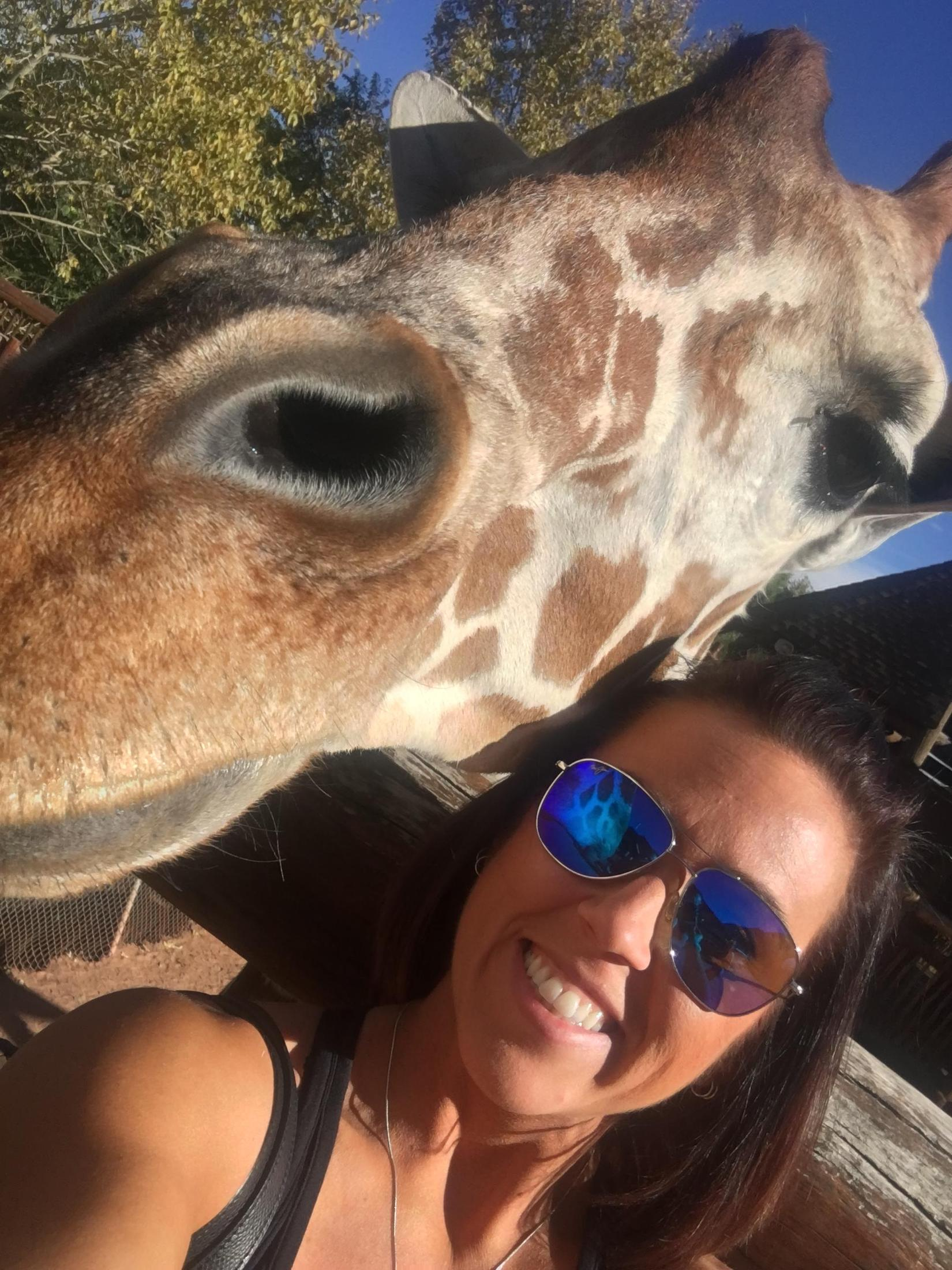 My life was made when I took a picture with a giraffe!