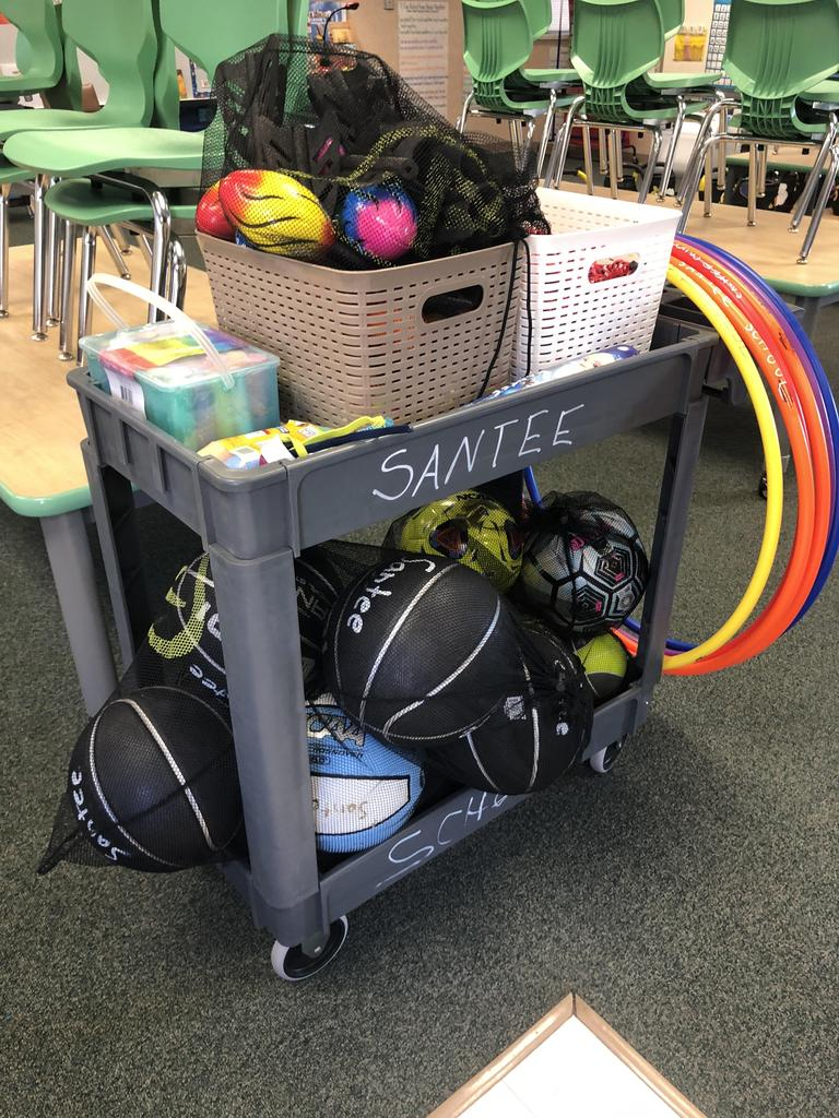 picture of physical education equipment donated by NBCC