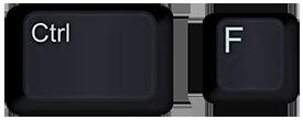 Ctrl and F keys on a keyboard