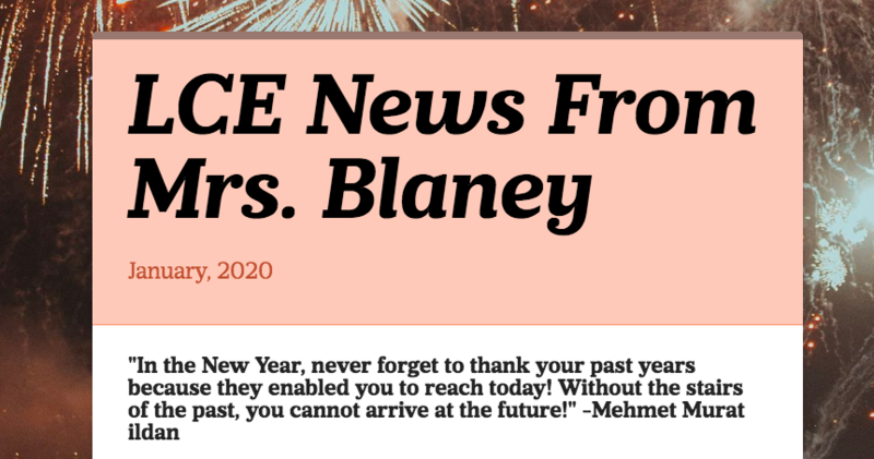 January News From Mrs. Blaney Featured Photo