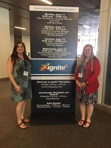Christy Martin and Nancy Molina at ignite18 conference