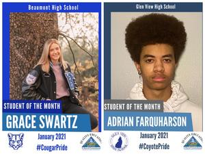 Pictures of Grace Swartz (left) and Adrian Farquharson (right)