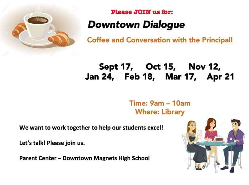 Downtown Dialogue - Coffee with the Principal Featured Photo