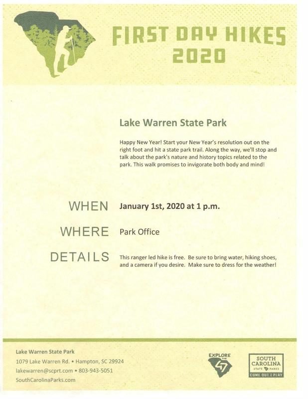 Park Hike Flyer