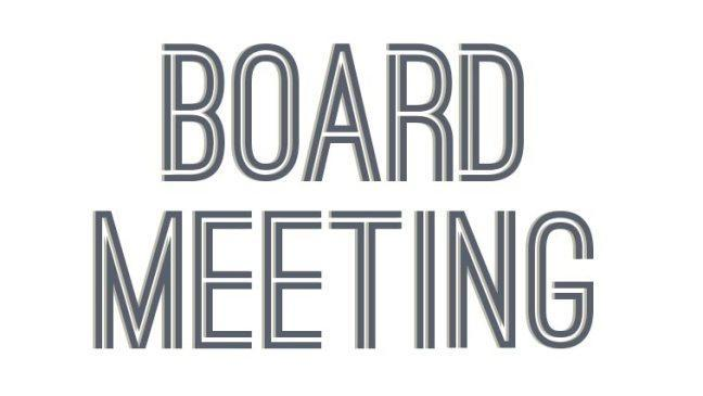 Board Meeting text (clipart)