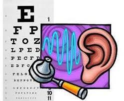 image of eye chart and ear for screeing